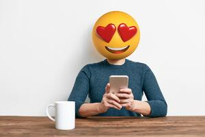 mobile banking happy emoji 2