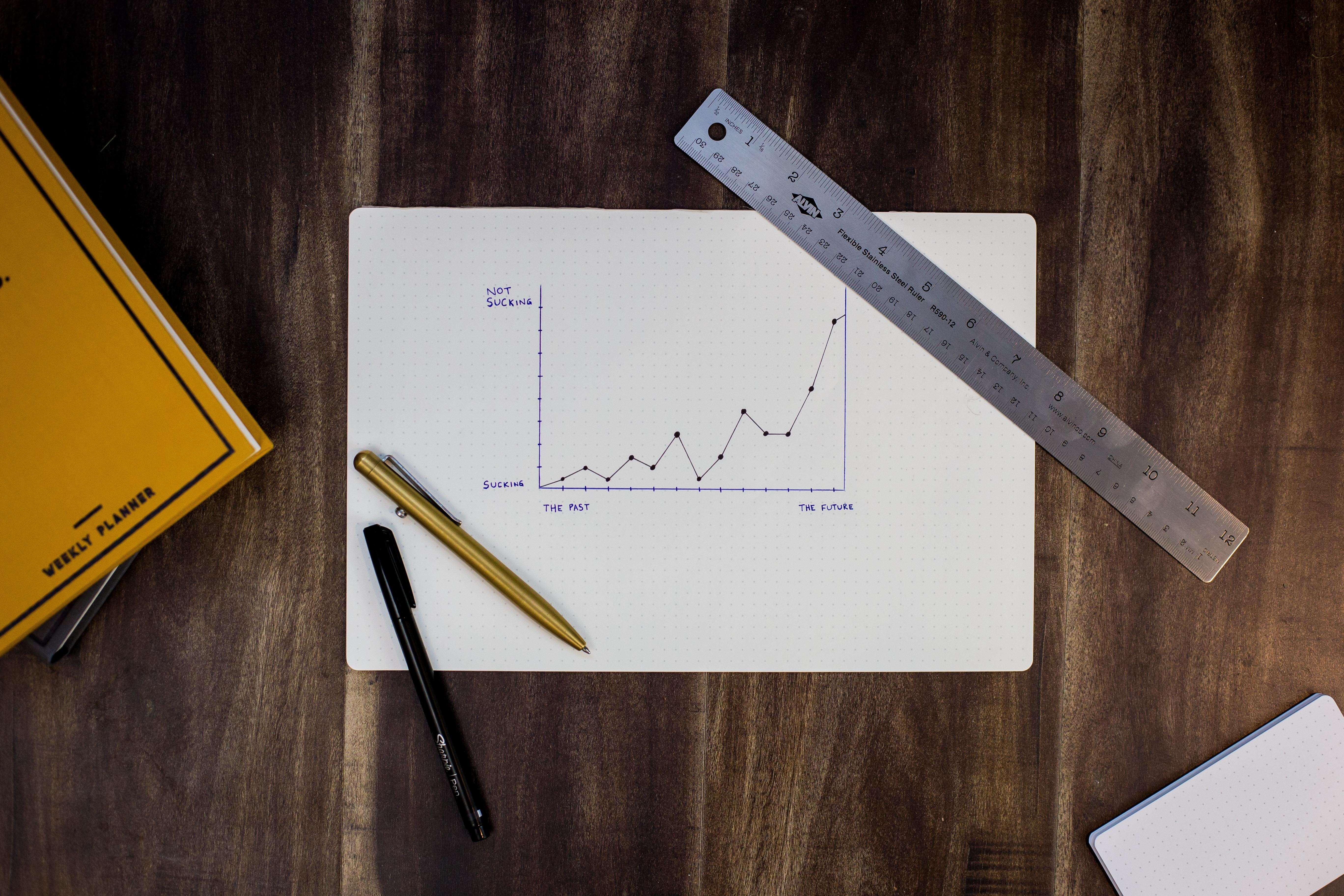 Sales graph rising